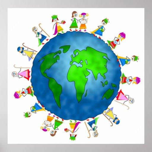 Global Nativity Kids Poster