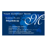 Global Professional Elegant Deep Blue World Map Pack Of Standard Business Cards