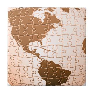 Global Puzzle Tile or Trivet