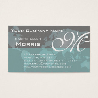 Global Sales and Marketing Elegant World Map Business Card