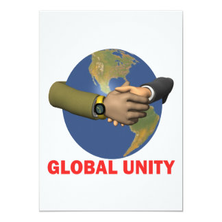Global Unity 5x7 Paper Invitation Card