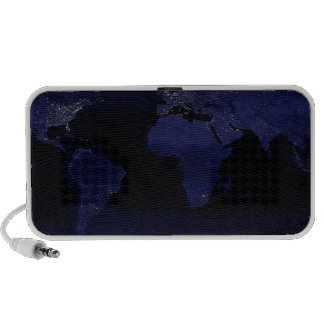 Global View of Earth s City Lights Portable Speakers