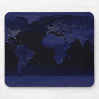 Global View of Earth's City Lights Mouse Mat