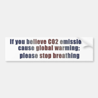 Global Warming Bumper Sticker