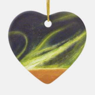 Global Warming Ceramic Heart Decoration