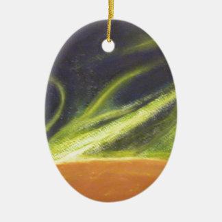 Global Warming Ceramic Oval Decoration
