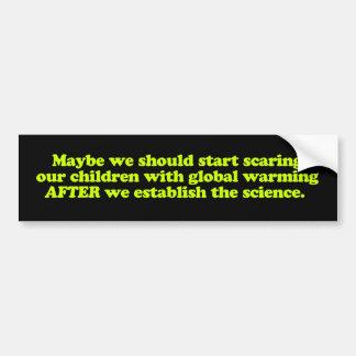 Global Warming & Children Bumper Sticker Car Bumper Sticker