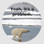Global Warming Classic Round Sticker