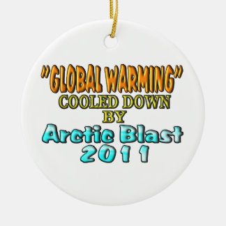 Global Warming Cooled Down By Arctic Blast 2011 Christmas Tree Ornaments