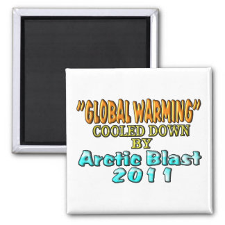 """Global Warming"" Cooled Down By Arctic Blast 2011 Square Magnet"