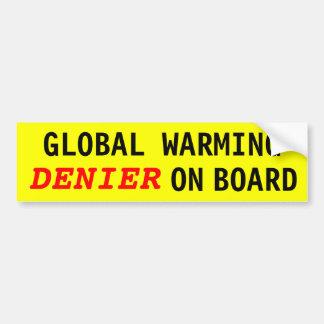 Global Warming DENIER On Board Bumper Stickers