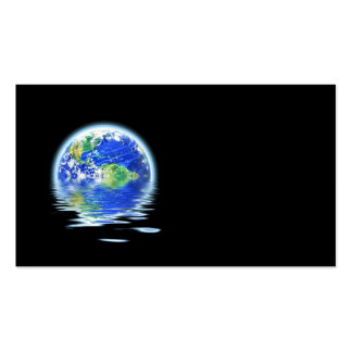 Global Warming Flooded Earth Illustration Business Card