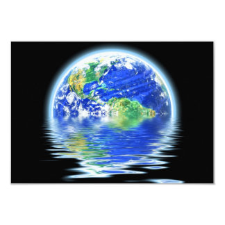 Global Warming Flooded Earth Illustration Personalized Announcements