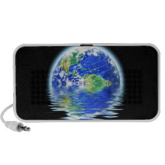 Global Warming Flooded Earth Illustration Notebook Speaker