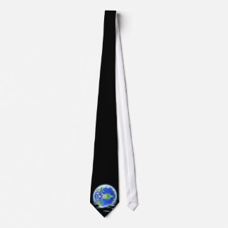 Global Warming Flooded Earth Illustration Tie