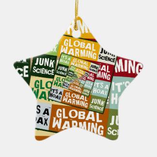 Global Warming Fraud Ceramic Star Decoration