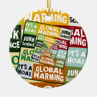 Global Warming Fraud Double-Sided Ceramic Round Christmas Ornament