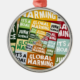 Global Warming Fraud Silver-Colored Round Decoration