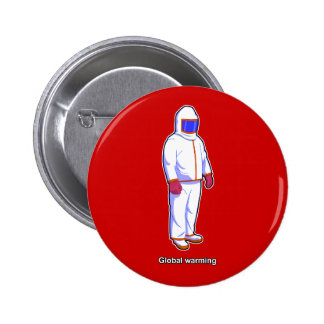 Global Warming Heat Suit Keychain & Button