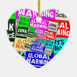 Global Warming Hoax Ceramic Heart Decoration