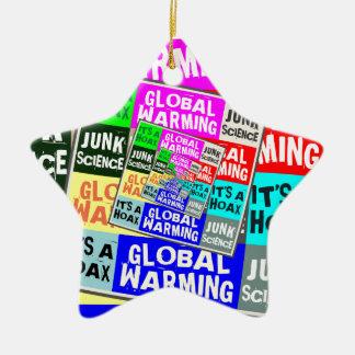Global Warming Hoax Ceramic Star Decoration
