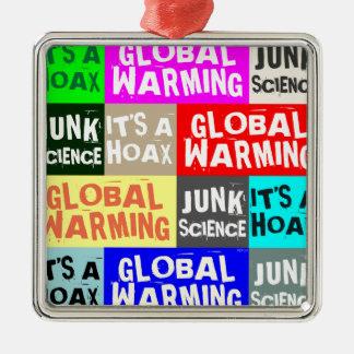 Global Warming Hoax Christmas Tree Ornaments