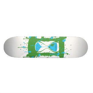 Global Warming Hourglass Skateboard