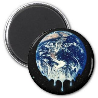 Global Warming II 6 Cm Round Magnet