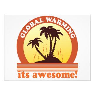 global warming custom invitation