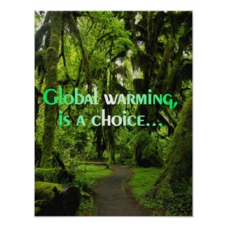Global warming, is a choice poster
