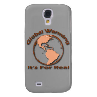 Global Warming Its For Real brown Galaxy S4 Case