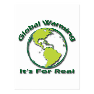 Global Warming Its For Real green Postcard