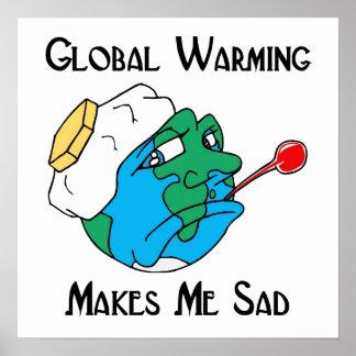 global warming makes me sad print