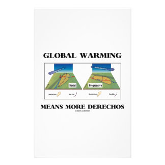 Global Warming Means More Derechos Stationery Paper