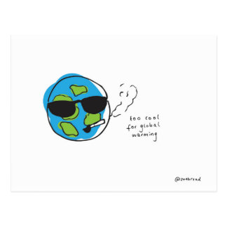 global warming postcard