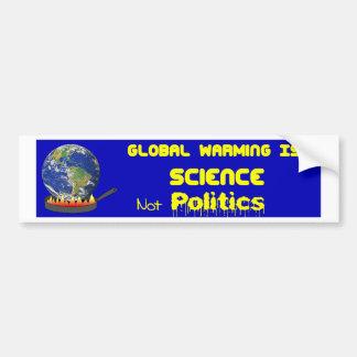 Global Warming Science Bumper Sticker