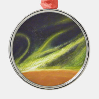 Global Warming Silver-Colored Round Decoration