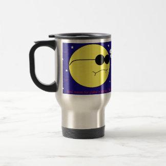 Global warming stainless steel travel mug
