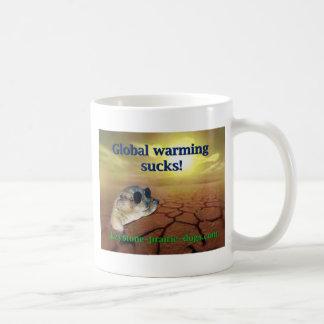 Global warming sucks coffee mugs
