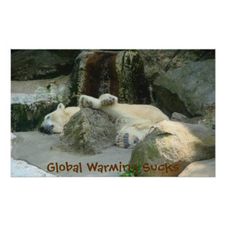Global Warming Sucks Polar Bear Poster