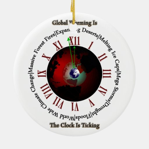 Global Warming - Time Is Running Out Ornaments