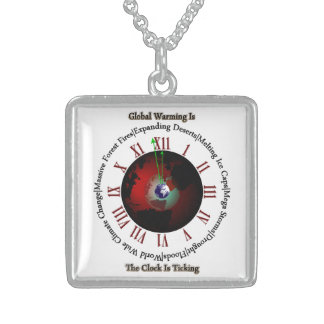 Global Warming - Time Is Running Out Custom Necklace