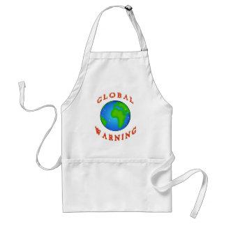 global warning adult apron