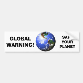 GLOBAL WARNING BUMPER STICKER