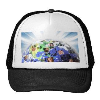 Global Worldwide Network of People Trucker Hats