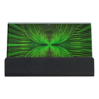 Globally Splits Green Desk Business Card Holder