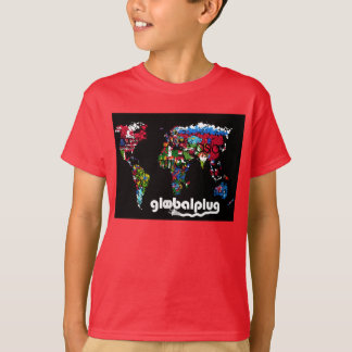 globalplug Kids Red Tee design by Lil Ant
