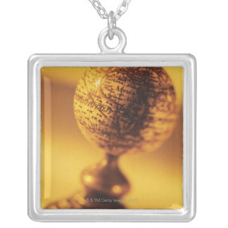Globe 2 silver plated necklace
