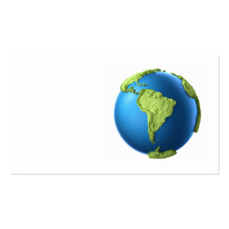Globe 3d isolated on white.Continent South America Pack Of Standard Business Cards