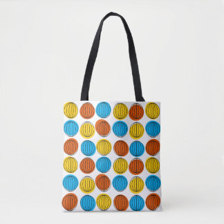 Globe all over tote blue back